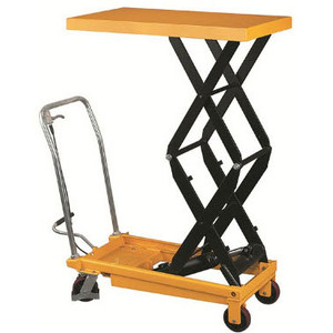 Wesco 272862 1,540 lb Capacity Double Scissors High Lift Table