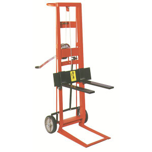 """Two Wheeled Winch Model, Low maintenance design with 750 lb lift capacity, 22.5""""W x 48.5""""H x 32""""D"""