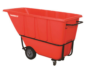 Model 1s1250r Tilt Cart Easy To Move And Dump with Polyurethane Wheels