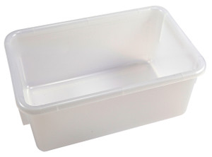 Tote Boxes, Natural Polypropylene, 12 x 8 x 5, case/6