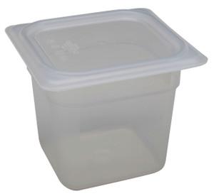 Pan, Translucent Tote, Lid, Polypropylene, 2.4 Qt, case/6