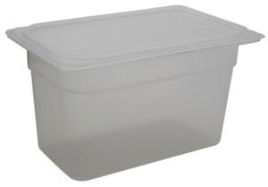 Pan, Translucent Tote, Lid, Polypropylene, 3.9 Qt, case/6