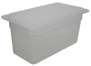 Pan, Translucent Tote, Lid, Polypropylene, 5.6 Qt, case/6