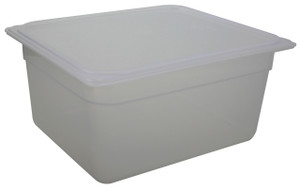 Pan, Translucent Tote, Lid, Polypropylene, 9.4 Qt, case/6