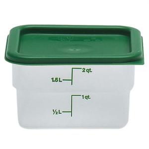 Dynalon Containers, Square, Graduated, PP, 2 Qt, case/6