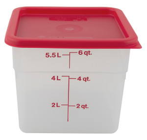 Graduated Square Containers, PP, 6 Qt, case/6