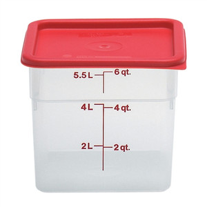 Dynalon Containers, Square, Graduated, PP, 6 Qt, case/6
