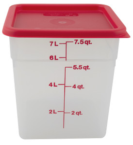 Graduated Square Containers, PP, 8 Qt, case/6