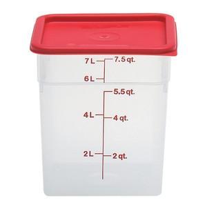 Dynalon Containers, Square, Graduated, PP, 8 Qt, case/6