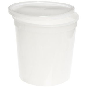 """Dynalon Containers, Covers, 83oz (2200mL) 6.5 x 6.5"""", case/25"""