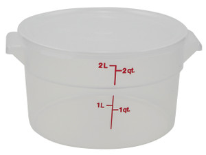 Dynalon Containers, Round, Graduated, PP, 2 Qt, case/12