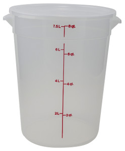Graduated Round Containers, PP, 8 Qt, case/12