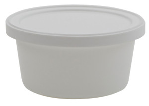 Containers, Disposable with Cover, White 4oz, case/250
