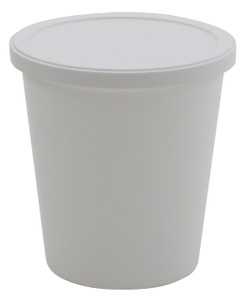 Containers, Disposable with Cover, White 8oz, case/250