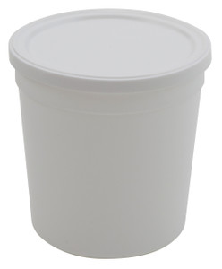 Containers, Disposable with Cover, White 16oz, case/100