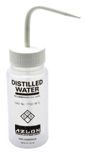 "Wash Bottle, 250mL, ""Distilled"" Water, case/5"