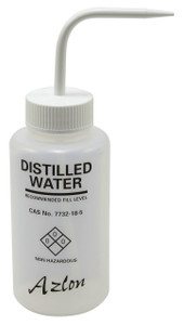 "Wash Bottle, 500mL, ""Distilled"" Water, case/5"