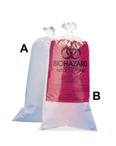 "24 x 30"" Biohazard Disposal Bags, Printed Polypropylene, case/100"