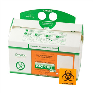 Dynalon Bio-Bin Biohazard Waste Containers, Loop Model 2.5L, case/50