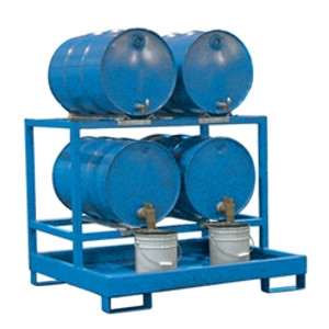 4-Drum Dispensing Pallet, Painted Steel