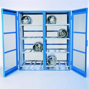Gas Bottle & Cylinder Storage Cage - Double, Horizontal 16 cylinder
