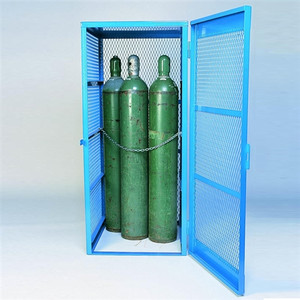 Denios Gas Bottle & Cylinder Storage Cage - Single, Vertical 5-10 cylinder