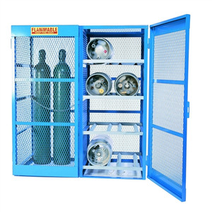 Gas Bottle & Cylinder Storage Cage - Combination Horiz and, Vertical