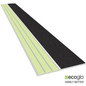 EcoGlo E2051-40 Glow in the Dark, No-Slip Stair Edge, 40 Inches