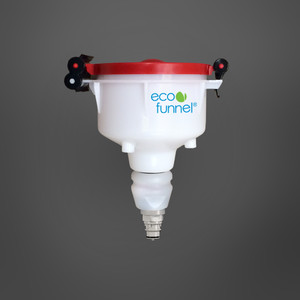 """4"""" ECO Funnel with Polypropylene Quick Disconnect Adapter"""