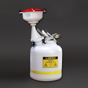 "8"" ECO Funnel, System, Justrite 5 gal Safety Can"