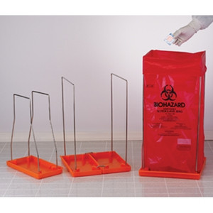Biohazard Bag Stand, Medium, with 100 Autoclavable Bags