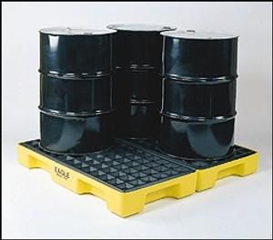 Eagle 1634 4 Drum Spill Pallet, Modular Spill Platform