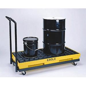 Eagle 1637 Mobile Spill Pallet, 2 Drum Dolly Rolling Platform