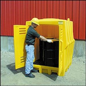 Eagle 1649 Outdoor Drum Storage Building, EAGLE 4 Drum Poly