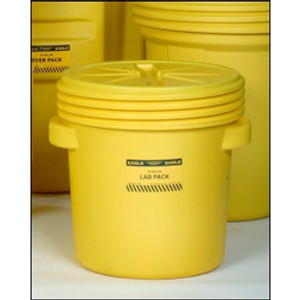 Eagle 1650 Drum Containment 20 gal Eagle Lab Pack Drum, Screw Top Lid, Yellow