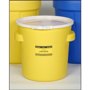 Eagle 1652 Drum Containment 20 gal Eagle Lab Pack Drum, Plastic Lever-Lock Band