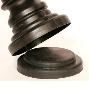 Eagle 1718BASE Bollard Post Sleeve Base, Molded Rubber
