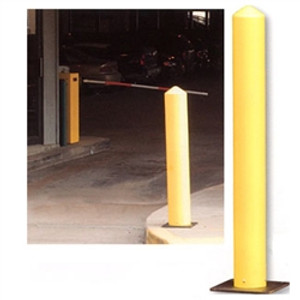 "Eagle 1731 Poly Bollard Post, 42"" x 5"" Round Yellow with poly base"