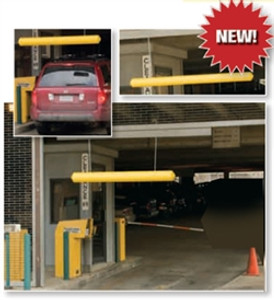 """7"""" Hanging Clearance Bar for Auto Garage or Drive Through, Yellow"""