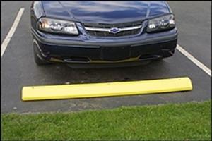 Parking Stop, Yellow Polyethylene Car Parking Stops