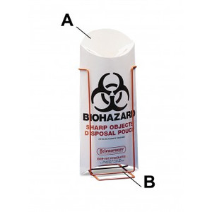 Bel-Art Trash Disposal Pouch for Biohazard Waste Materials, case/200