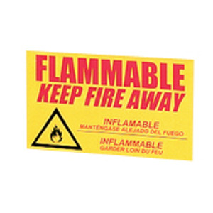 """Eagle Decal """"Keep Fire Away"""" Label for Flammable Safety Cabinets, Large"""