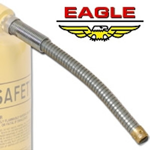 """Eagle FD-25-S x 5 Replacement flexible 12"""" x 5/8"""" metal spout for Eagle Type II Safety Cans"""