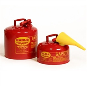 Eagle UI-10-FS Type I Safety Can, 1 Gallon Eagle Metal With PE Funnel