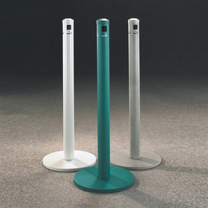 "Value Cigarette Smokers Post, 3"" x 43.5"" Floor Standing, Choose Color"