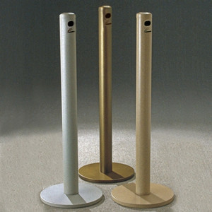 "Deluxe Cigarette Smokers Post, 3.5"" x 42"" Floor Standing, Choose Color"