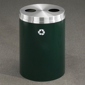 Dual Purpose Recycle Bins, RecyclePro Waste Receptacles (Bottle, Cans) 33 gal