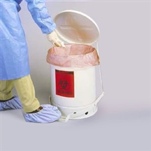 Justrite 10 gallon Biohazard Waste Can, Choose Color