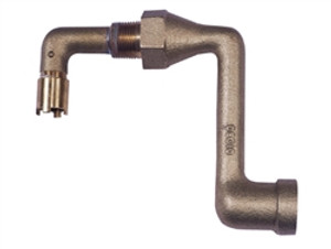 """Justrite 08011 Cast iron Elbow 2"""" fitting for mounting 08101 or 08005"""