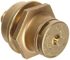 """Justrite 08102 Brass Drum Vent Kit with 3/4"""" Reducer"""